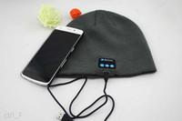 arrival wireless speakers - 2016 New Arrival Bluetooth Headphone Hat Bluetooth Earphone Hat Winter Beanie Hat Wireless Smart Cap Headphone With Speaker Mic