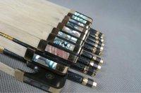 best violin bow - Pc best plaid Carbon fiber violin bow good balance doulble pairs eye ebony frog copper parts
