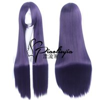 Wholesale high temperature wire cm cm long hair cosplay wigs Fox x Servant ss Fake Hair White Ghost Hospital Stern Butterfly Purple Wig