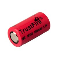 Cheap Trustfire 18350 3.7V 800mAh Rechargeable Battery 2104 durable and refinement 18350 800 mAh rechargeable battery (0204080)