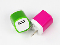 Wholesale Colorful cell phone Chargers USB Power Home Wall Charge Travel Charger Adapter Plug for iPhone S S Samsung note Smartphone