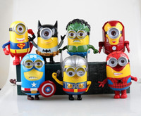 Wholesale 2015 kids Marvel s The Avengers Version Minions Action Figure Minions Cosplay set cartoon display kids gift with light and sound
