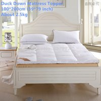 Wholesale New Arrival cm height soft Bedroom furniture duck down filled cotton cover Mattress topper cm inch