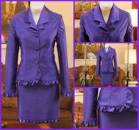 Cheap 2015 Woman skirt Two Pieces Crystal button competition tailored collar little kids girls pageant interview suit