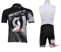 Short Quick Dry Men Tour de France Jersey 2015 Summer SCOTT Black Gray Cycling Short Sleeve Jersey Bib shorts Cycle Bike Clothing Set Sze S-XXXL