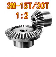 Wholesale 1 M T T Degree precision gear drive bevel gear M15 teeth with30 teeth set