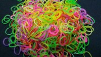 Cheap Wholesale 10 Bags Glow In The Dark Rubber Bands Refills Packs Loom Bands (300 Bands+12 S-Clips+1 kit )For Silicone Bracelet