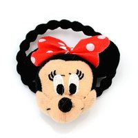 Wholesale 5pcs Elastic Lovely Minnie Hair accessories girl Hard hair bands for Mickey mouse birthday party mickey mouse headband jewelry