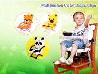 Wholesale 3 Carton figures safty plastic Child Dining Chair with full cotton seat cushion