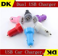 Cheap Top Quality Dual Port USB Car Charger USB Adapter 2100mah Colorful Car Charger for ipad iPhone 4 5 6 Samsung Galaxy S5 S6 Note 3 Note 4 Hot