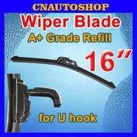 Wholesale 16 quot mm Auto Frameless Wiper Blade Bracketless Natural Rubber Car Soft Windshield order lt no track
