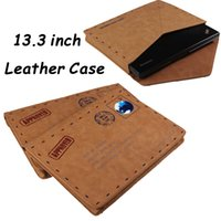 Wholesale Fashion Retro Leather Case for Macbook Pro inch Laptops Classic Envelope Style Sleeve inch Tablet PC Brown Cases Protective Pouch