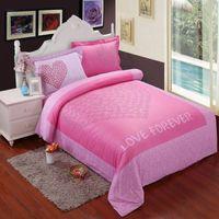 leopard print bedding - 3D Pink leopard love cotton bedding comforter set queen size bedspread duvet cover bed in a bag fitted sheet bedsheet bedroom quilt linen
