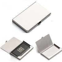 Wholesale Top Quality Waterproof Stainless Steel Silver Aluminium Business ID Credit Card Holder Case Cover FG08067