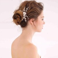 beaded hair supplies - 2016 Adorable Bridal Hair Accessories Hair Flowers Beaded crystals Pearls Wedding Supply Women Daily Party Events CPA140