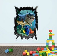 Wholesale Cartoon D Wall Stickers Children Room Decoration Wallpapers Decals Eco friendly House Sticker A1E0E1