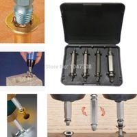 Wholesale 4pcs Craftsman HSS Rigid Broken Screw Bolt Extractor Set Kit Remover Bolt Nut Extractors Easy Out Tool W Case Size