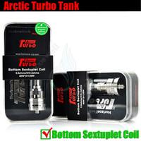 Authentique Turbo Tank Arctique Horizon Mods vapeur RDA sextuple bobine 3.5ml Sub Ohm Top Turbine SMOK TFV4 mini couronne uwell Vaporisateur atomiseur DHL