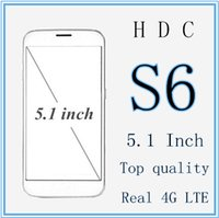 Wholesale DHL HDC s6 Mobile Phone Inch x1080 HD Screen MTK6735 Quad Core GB RAM GB ROM GPS MP Android Lollipop Goophone with case