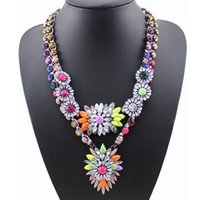 Wholesale 2016 Wedding Necklaces alloy material luxury design jewelry necklace flower for wedding engagement