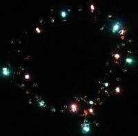 Wholesale 500 BBA4822 hotsale Led Necklace Necklaces Flashing Beaded Light Toys Christmas gift lighted necklace LED Pendant Flash Luminous necklace