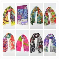 cotton shawls and scarves - Spain Desigual Scarf with logo cm Cotton Export Original Single Brand Foulard Desigual Scarves and Shawls Women