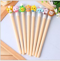 Wholesale 20 off Meng things cute and creative expression gel pen Children s school supplies Cartoon Student Study Pens Supplies Pens SQ