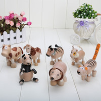 Wholesale Anamalz Maple Wood Handmade Moveable Animals Toy Farm Animal Wooden Zoo Baby Educational Toys