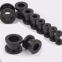 Wholesale 100pcs mix mm stainless steel screw black ear plug flesh tunnel piercing body jewelry