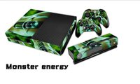 Cheap 1Set Protective Vinyl Decal Skin Stickers For Xbox One Console+ 2PCS Stickers for Xbox one Controllers Game+ Kinect Skin XB16