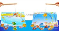 baby whale fish - Wooden toys Fishing game QQM04 two fishing toys Children s fishing toys whales seashells baby fishing