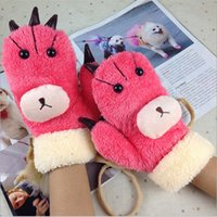 Wholesale New stereo bear gloves winter gloves adults
