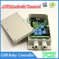 Wholesale Quad Band ch GSM SMS Remote Control Relay Output Contacts Switch Box App control