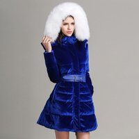 Wholesale 2014Bel avenir High Quality Large Duck Feather down jacket Women s Medium long Jacket for winter down coat