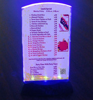 led bar table - restaurant bar KTV Night club LED Flashing Menu Holder Bars and restaurants hotel wine LED display card Table Tent