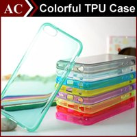 Wholesale Soft TPU Silicone Gel Coloful Thick Case For iPhone S S Plus Galaxy S5 S6 S7 Edge Clear Transparent Smooth MM Shockproof Back Cover
