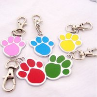 Wholesale New Printed Stainless Steel Foot Print Engraved Puppy Pet Dog Cat ID Name Tags