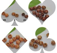 Wholesale Love Wooden Beads - Wholesale - 100pcs 10x11mm printing wooden beads loose beads DIY beaded jewelry accessories 4 variety optional