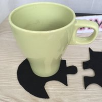 Wholesale Home Table Cup Mat Creative Decor Coffee Drink Placemat super hero Spinning Drinks Coaster