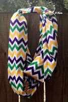 Wholesale Personalized Adults and Kids Multi Chevron Mardi Gras Scarves Mardi Gras Accessories Costume and Decoration