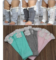 bamboo boots - Hot pairs baby lace boot cuff trim knit leg warmers Crochet Button Down Boot Cuff Leg Warmers Stockings Boot cuff knee high Socks