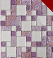 Wholesale Crystal glass mosaic wall inside noble and mysterious printing glass YH01 Moistureproof