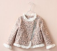 Wholesale 2015 Kids Girls Print Floral Lace Jackets SDB307 Baby Girl Autumn Cotton Zipper Princess Stylish Outwears Children s CLothing babies Clothes