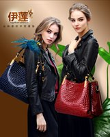 Cheap hot sale 2016 new crocodile grain women handbag inclined shoulder bag handbag  Order big bag for free small bag gift