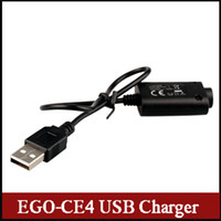 battery charger store - 2015 new EGO CE4 USB cable charger E cigarette Accessories high quality in store fit many batteries via dhl free