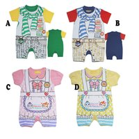 infant and toddler clothing - 2015 new style Europe and America Anpanman cartoon babies clothes baby girl romper short sleeve infant boy one piece clothes toddler jumpers