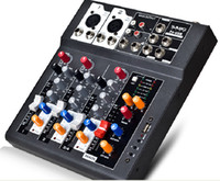 Wholesale F4 USB Mini Audio Mixer Console with USB Built in effect processor Audio Mixer channel mixer sound console v power supply