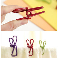 Wholesale Excellent Quality Stainless Steel Spring Clothes Socks Hanging Pegs Clips Clamps Silver Laundry
