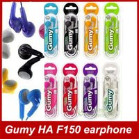 Wholesale Headphones Earphones Gumy HA F150 earphone Colors MP3 DJ Earphone No MIC Colorful OEM earphones For iphone ipad ipod