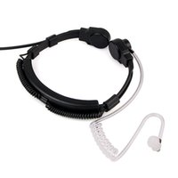 Wholesale 1 Pin mm Finger PTT Throat Mic Earpiece Earphone Covert Air Tube Earpiece For Mobile Phones C2124A